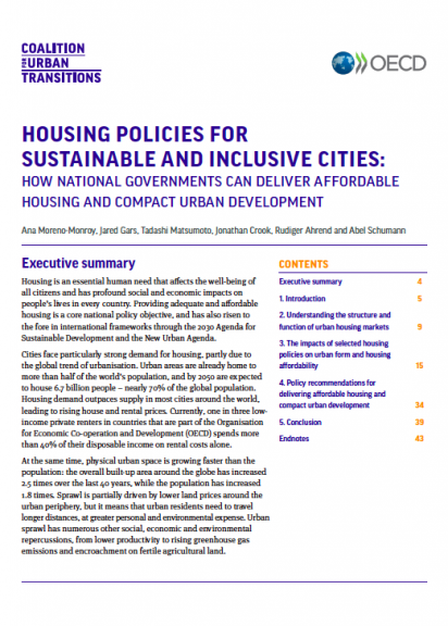 Housing Policies For Sustainable And Inclusive Cities How National Governments Can Deliver Affordable Housing And Compact Urban Development Coalition For Urban Transitions