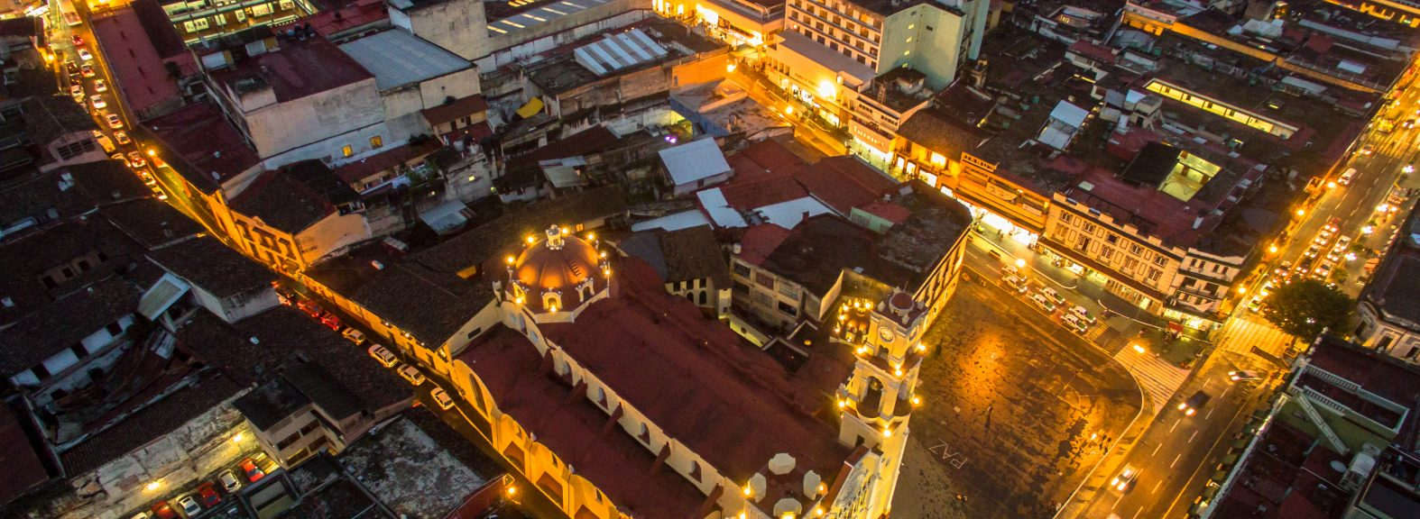 Aerial view of downtown Xalapa