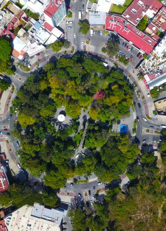 Aerial view of Chapalita roundabout